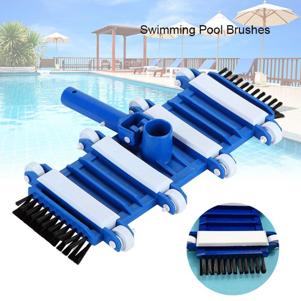 Cabezal de aspiradora Flexible para piscina de 14 pulgadas con cepillo limpiador para estanque, Spa, aguas residuales, accesorios para piscina, limpiador acuático nuevo