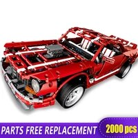xingbao 07001 techinc blocks 2000pcs muscle car building blocks toys brick with figure bugatii chiron racing car
