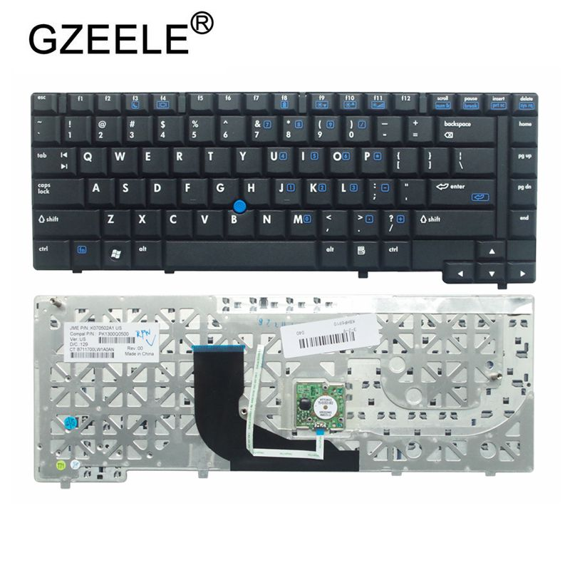 Nuevo teclado Inglés para ordenador portátil GZEELE para HP 6910P 6910 6910B disposición estadounidense negro