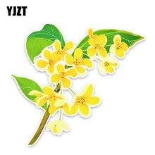YJZT 14.8*13.5CM Osmanthus Flowers Car Stickers Accessories Bumper 11A1375