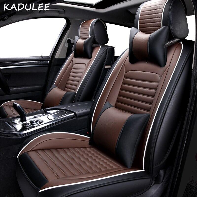 Conjunto de fundas de asiento de coche KADULEE para Jaguar XF xxjl XJ6 XJ6L F-PACE marca de F-TYPE, accesorios suaves para automóviles
