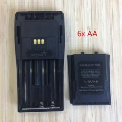 2X 6x AA батарейный отсек для Motorola DEP450 DP1400 PR400 CP140 CP040 CP200 EP450 CP180 GP3188 и т. д. wakie talkie с зажимом для ремня