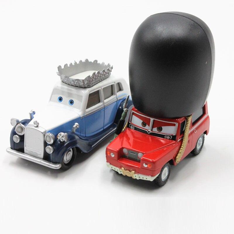 Pixar Cars película La Reina Londres Buckingham Metal Diecast coche de juguete 155 modelo holgado coche de aleación Disney Dibujos Animados juguetes para niños