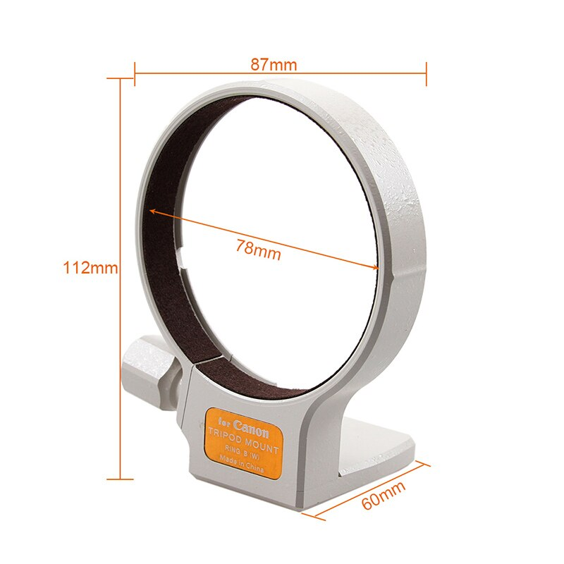 Alta calidad 77mm trípode de Metal montaje Collar anillo B (W) para Canon EF 70-200mm f/2.8L/EF 100-400mm f5.6/EF 35-350mm F5.6 es USM
