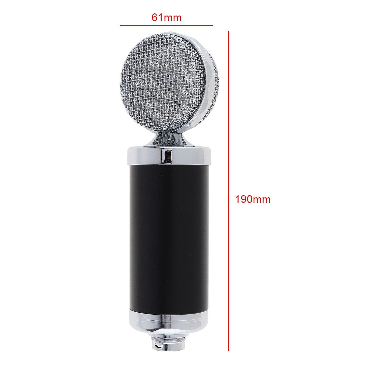 Profissional microfone condensador especial bm 5000 com controle de circuito e cabeça grande diafragma banhado a ouro para estúdio/ktv