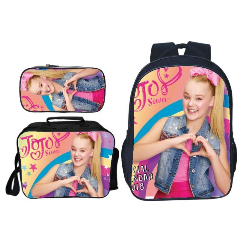 3 sztuk/zestaw Hot gwiazda popu jojo siwa plecak szkolne torby dla nastoletnich dziewcząt codzienny plecak książka dla dzieci torby dorywczo torby podróżne na ramię