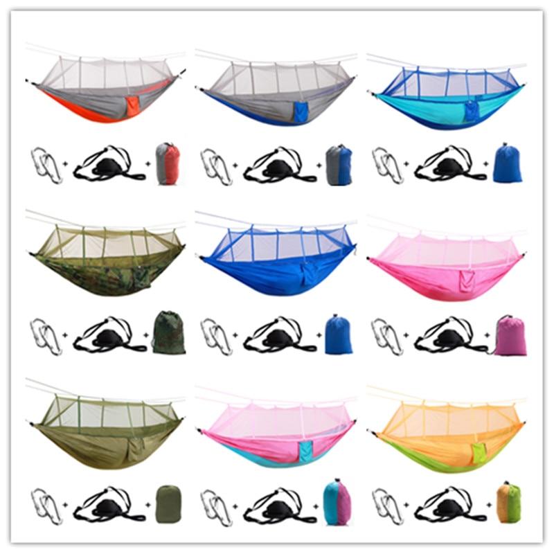 Открытый гамак-парашют для кемпинга москитная сетка Flyknit двойной Досуг спящий подвесной стул палатка путешествия выживания армейский зеле...