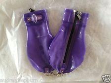 اللاتكس صنم اليد عبودية قفازات ملاكمة ث/س إصبع ضيق المشبك حلقة الحديد قابل للقفل سستة المتاحة