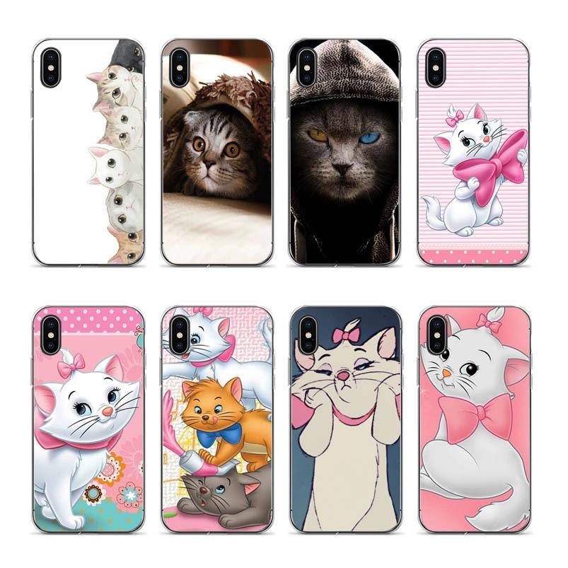 Encantadora Pusheen gato aiboduo XXG9 gato de plástico suave de la caja del teléfono para Apple iPhone 7 XS XR XS MAX 7 7plus 8 8plus 6 6 6 6 6plus coque caso