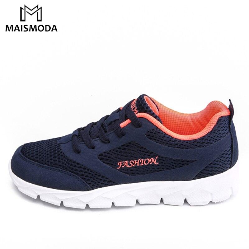 MAISMODA Primavera Verano 2018 zapatos deportivos planos zapatillas de deporte al aire libre transpirables zapatos de malla para mujer YL128