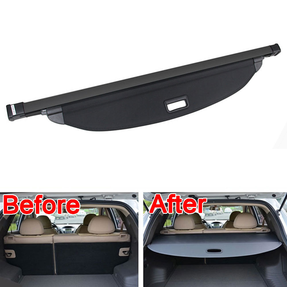 BBQ@FUKA 1pc ABS Plastic Aluminium Rear Trunk Shade Cargo Cover Trim Fit For Ford Edge 2011-2013 Low-equipped Model Accessories