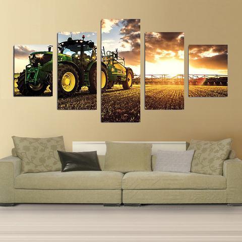 Otoño Tractor cosechadora granja arte pinturas de lienzo para pared decoración hogar impresiones modernas ilustraciones imagen Pared de habitación pegatinas Póster