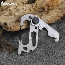 EDC mini tragbare gadgets multifunktionale outdoor camping karabiner kreative schlüsselanhänger sicherheitsgurt messer werkzeuge
