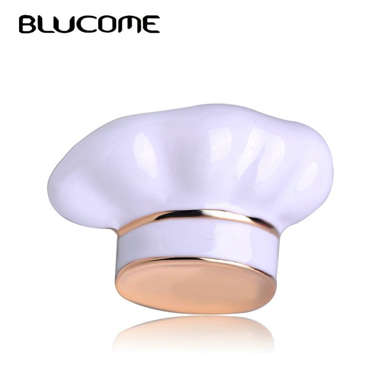 Женская и мужская эмалированная брошка Blucome, белая эмалированная брошь в форме повара, аксессуар для свитера
