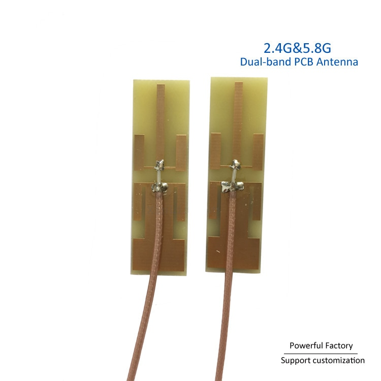 7dBi Wifi Patch Aerial Wholesale Whip Daul band 2.4g 5.8ghz Internal Antenna with MMCX 90 degree  5PCS / batch enlarge