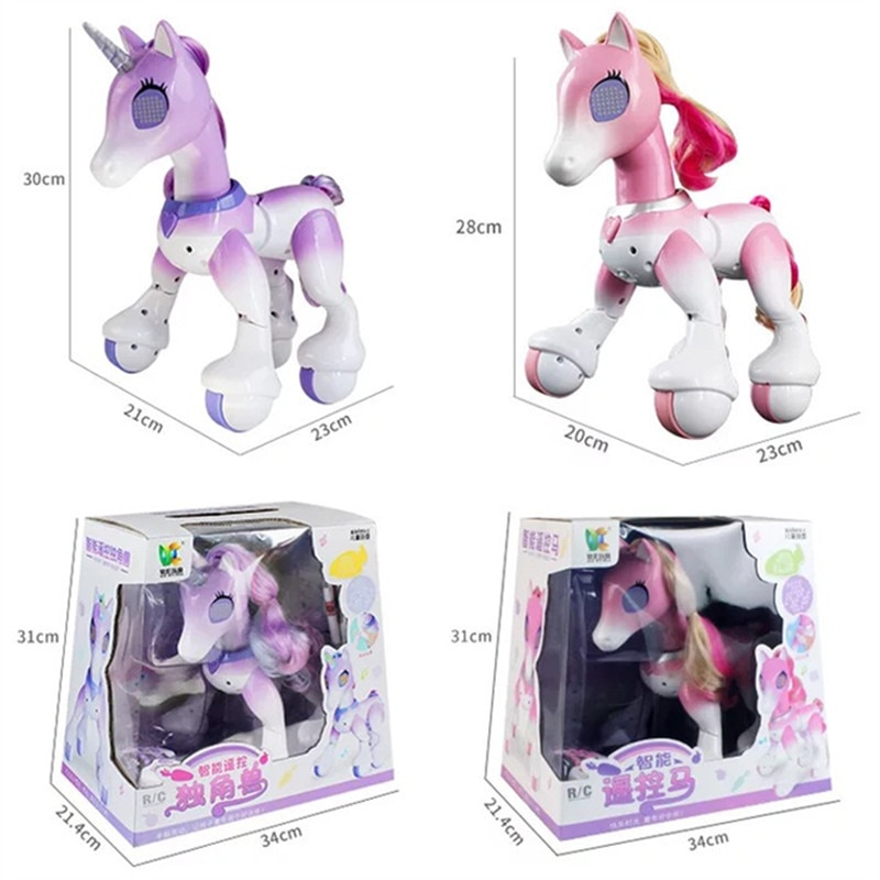 Electric Smart Horse Unicorn Toy for Children Remote Control Children's New Robot Touch Induction Electronic Pet Educational Toy