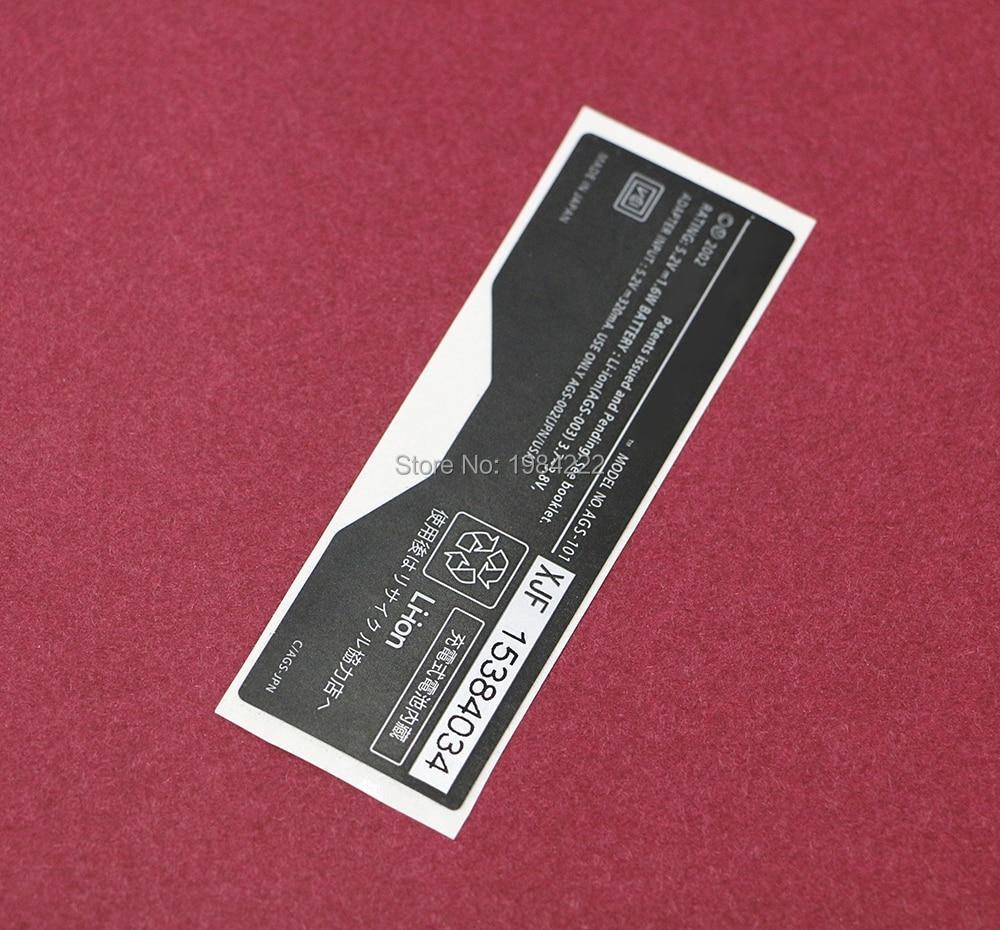 Vervanging Voor Gameboy Gba Sp Console Back Tag Voor Game Boy Sp Label Sticker 300 Stks/partij