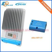 Traceur solaire mppt EPEVER ET6420BND   Boîte de wifi, application pour téléphone Android 60A, système de charge de batterie 48V, entrée PV max 190V