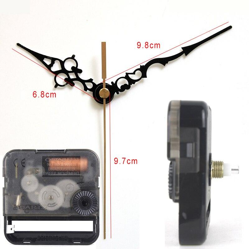 Ostar Movimento Silencioso relógio de quartzo mecanismo com as mãos de Plástico 19 # Acessório Relógio de Quartzo Relógio DIY kits F333