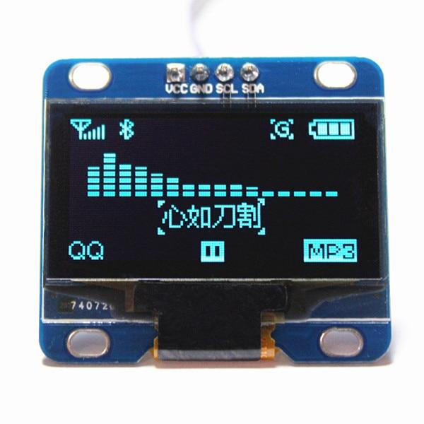 Módulo oled i2c iic de exibição interior de 1.3 polegadas azul 12864/3.3 v-5 v para arduino 51 msp420 stim32 scr (HTDS-BI13N)