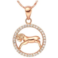 circle micro paved constellation jewelry rose gold filled womens mens aries pendant necklace chain