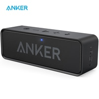 Портативный беспроводной Bluetooth динамик Anker Soundcore, колонка с двойным драйвером, Насыщенные басы, 24 часа работы, 66 футов, Bluetooth диапазон и встрое...