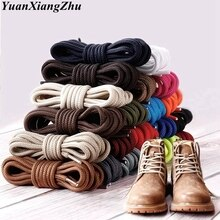 1Pair Round Shoelaces Polyester Solid Classic Martin Boot Shoelace Casual Sports Boots shoes Lace 90
