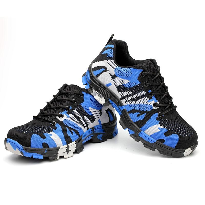Sapatas de segurança de trabalho permeáveis ao ar smash-proof puncture-proof calçado de proteção sapatos indestrutíveis calçados