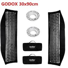 2 шт. софтбокс Godox 30x120 см с ячеистой сеткой Bowens крепление для Godox DE300 SK400II DE400 фотостудия стробоскопическая вспышка