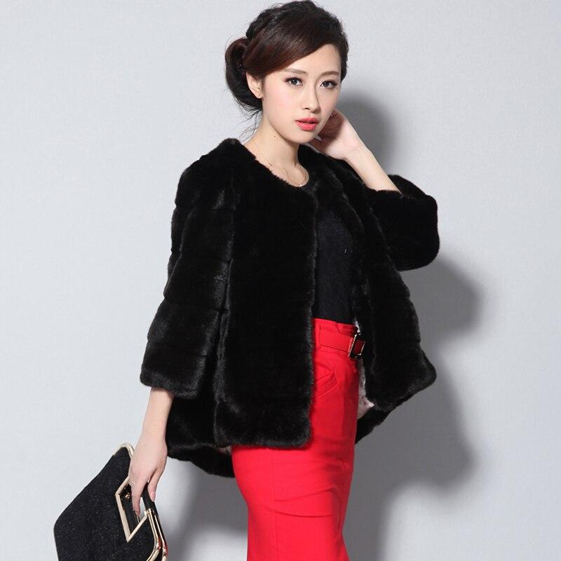 Nerazzurri abrigo de piel sintética para mujer de talla grande Piel de visón peludo parte de arriba de piel 5xl 6xl 7xl invierno negro púrpura cortos a rayas mullido chaqueta de piel falsa