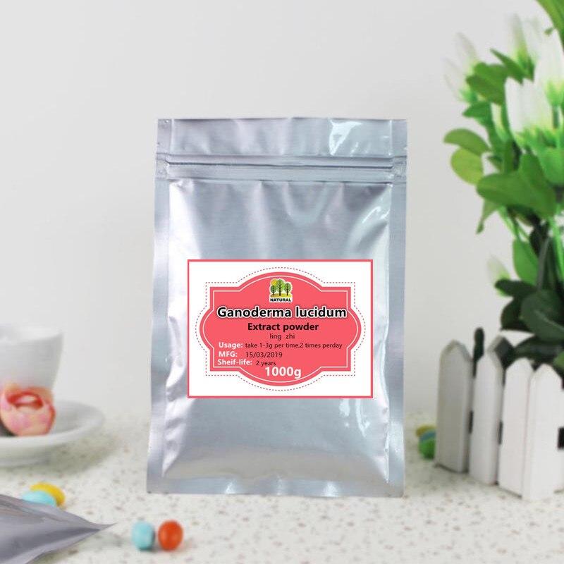 1000g de alta calidad de Ganoderma Lucidum puro de extracto de polvo de Reishi ling zhi ganoderma Lucidum esporas en polvo brillante Ganoderma