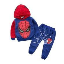 Ensemble de vêtements Spiderman pour garçons   Ensemble de 2 pièces de vêtements de survêtement pour enfants, Roupas, ensembles de vêtements pantalons pour enfants, 2019