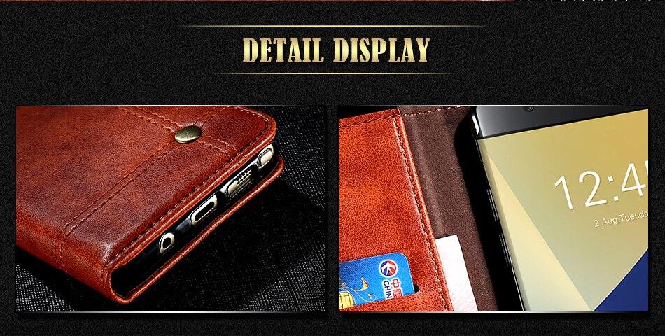 Deluxe floveme szlachetni mężczyźni skóra case dla iphone 6 plus 6s portfel pokrywa luksusowa brązowy odwróć kabura dla iphone 7 plus torby 5
