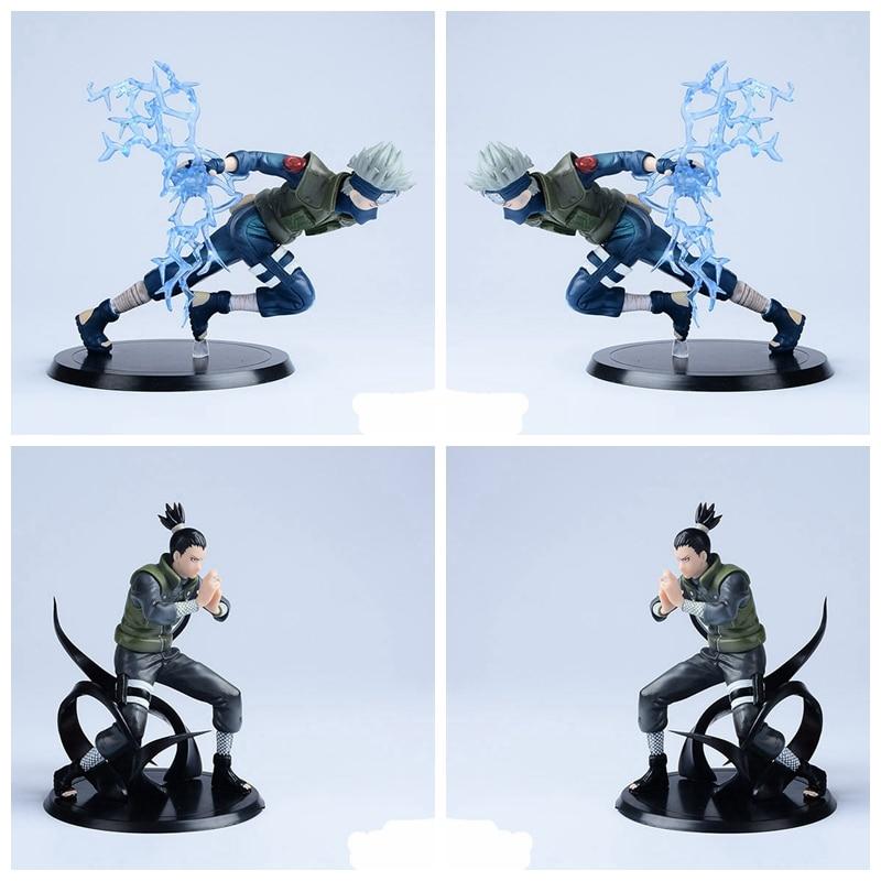 Наруто Фигурки Хатаке Какаси Нара Шикамару японского аниме фигурка Наруто доставка фигурка из ПВХ из мультика игрушки наруто 2 шт./компл.