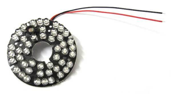 2 шт. 48 светодиодов IR ulb плата подходит для 3,6 мм, 6 мм, 8 мм объектива 5 мм инфракрасная длина волны 850nm