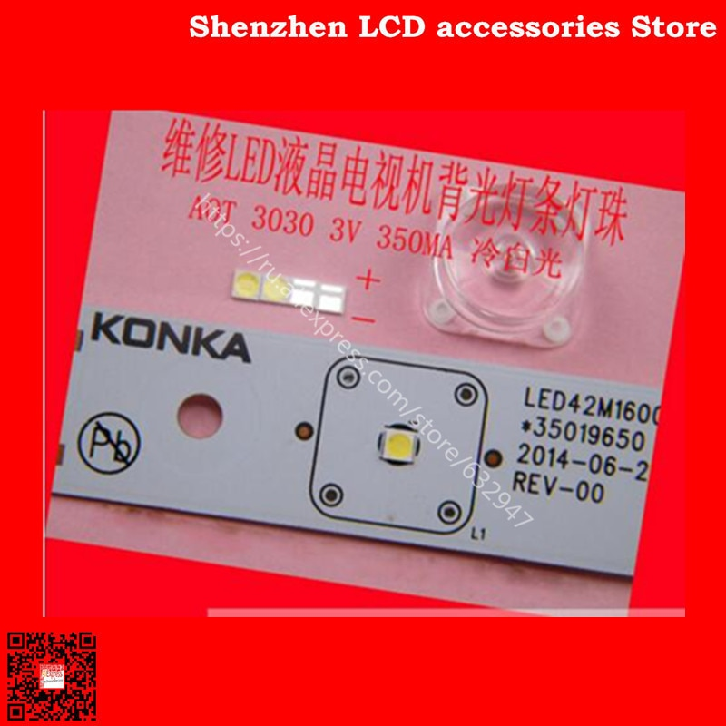 200 unids/lote para el mantenimiento Konka Hisense Changhong TV LCD LED de luces de retroiluminación con AOT 3030 cuentas de lámpara SMD 3V