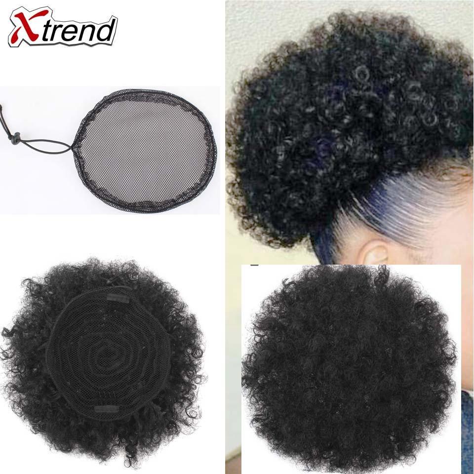 Накладки для париков Xtrend, черные накладки для конского хвоста, высокое качество, 2019 сеточка без гула для волос, сетка для пучка волос для женщин, 1 шт.