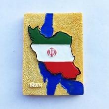 Lychee Life Iran Persian Gulf Caspian Flag Refrigerator Magnetic Sticker Creative Fridge Magnet Modern Home Kitchen Decoration