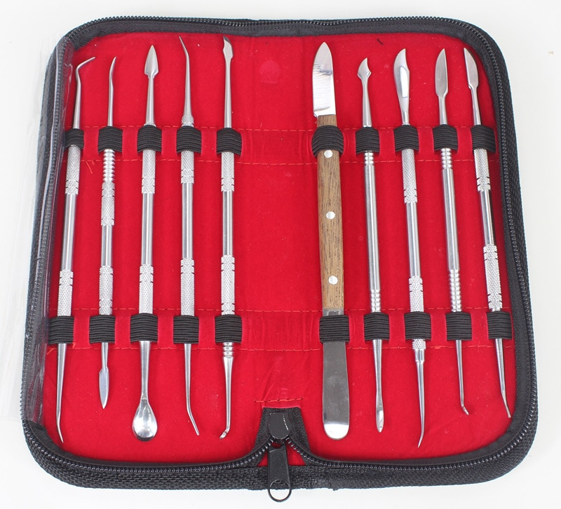 Стоматологическое лабораторное оборудование 10 шт., набор инструментов для резьбы по воску, инструменты для вырезания глины, инструменты для гончарного дела, инструменты для хирургического стоматолога, скульптуры, ножа