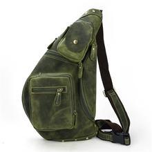 MAHEU 정품 가죽 남성 싱글 어깨 백 팩 망 가슴 가방 iPad 암소 가죽 남성 가슴 팩 캐주얼 브랜드 핫 디자인