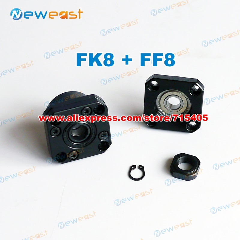 FK8 extremo fijo con soporte de extremo FF8 para soporte de husillo de bolas CNC XYZ FK8 FF8