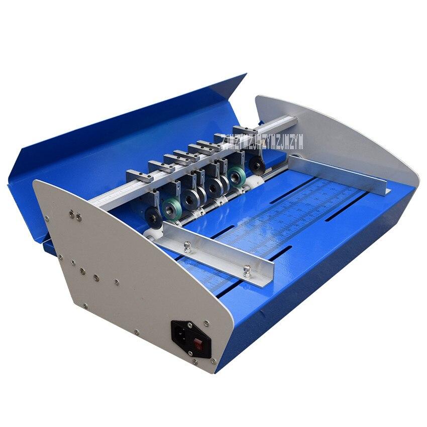 460e máquina de indentação elétrica vincando máquina cartão cortador de papel máquina de dobramento linha pontilhada máquina de corte marcador de papel