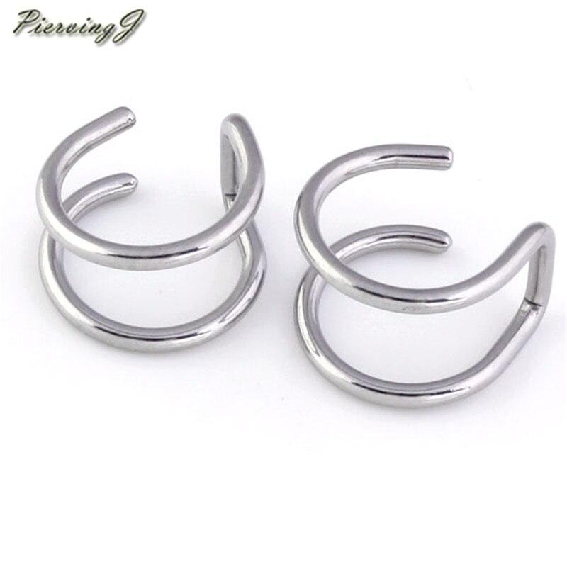 PiercingJ 2 uds/10 Uds. De acero inoxidable para envolver el pendiente del aro del cartílago sin piercing