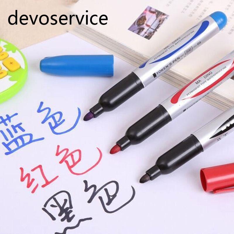 1PCS Permanent Smooth Oil Paint Marker Pen Express Signature Bulk Box Marking Pen For Cardboard Metal Leather Wood Marker Pens