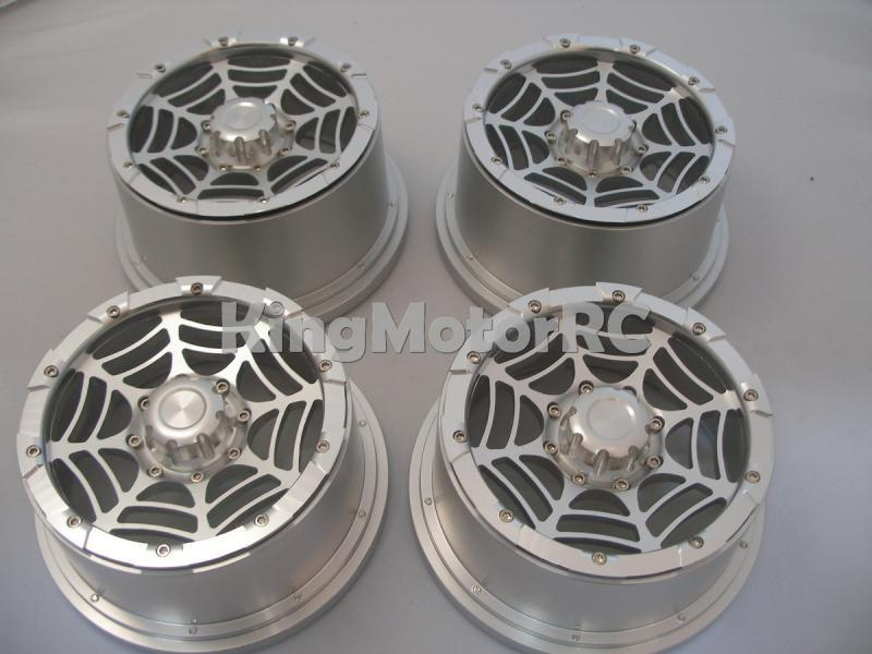 King Motor алюминиевая оправа из сплава колеса, 24 мм шестигранный подходит для HPI Baja Truck 5 T, SC T1000