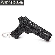 Annmouler Fashion Women Purse Pistol-shaped Bag Cool Small Messenger Bag Pu Leather Crossbody Bag Ladies Shoulder Bag