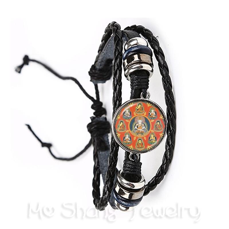 Nueva pulsera de gemas de cristal de moda de 20mm, colgante de elefante y Buda de Ganesha, joyería DIY para hombre y mujer, recuerdo para regalo