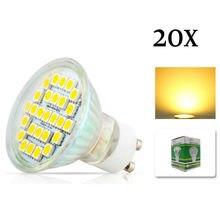20x GU10 5050 SMD 27 LED 7 w blanc chaud blanc Spot lumières ampoule lampe avec couvercle en verre 220 V économie dénergie