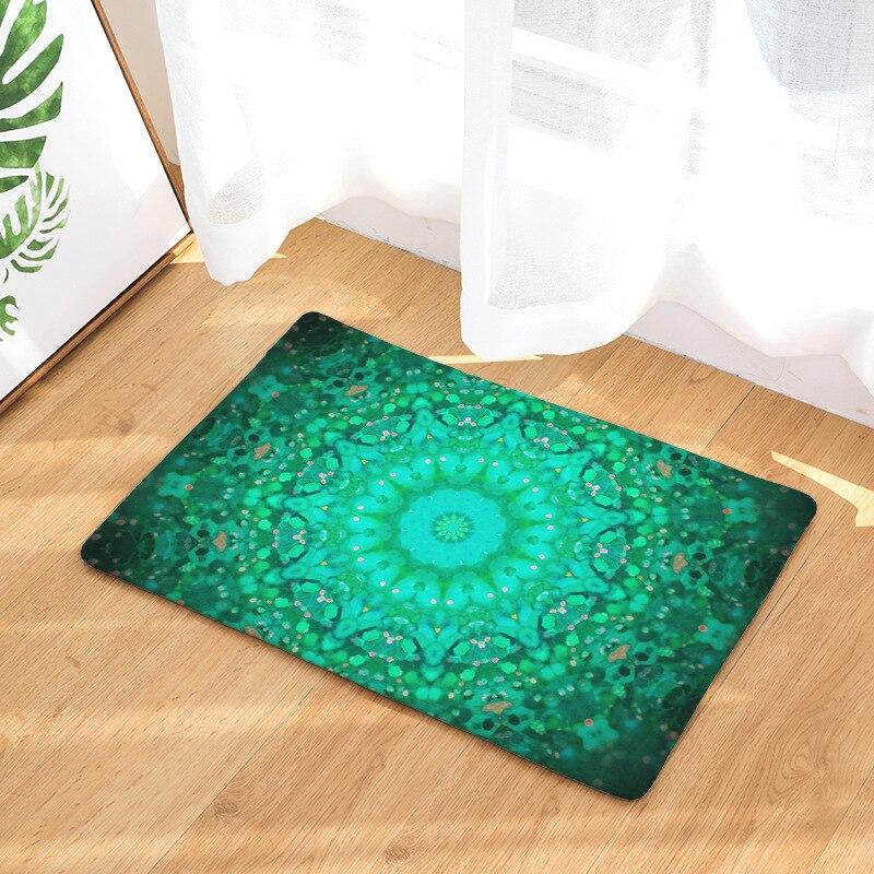 Alfombra de primavera alfombras de corredor alfombra geométrica verde púrpura azul brillante Floral