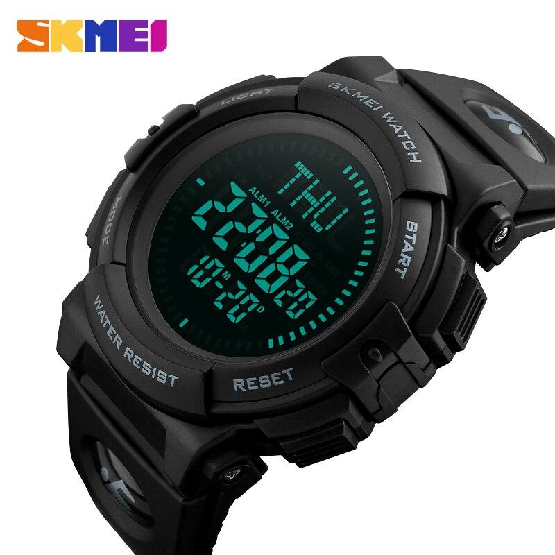 SKMEI Top, reloj deportivo de lujo para hombre, brújula 5Bar, relojes deportivos impermeables, reloj Digital multifunción, reloj Masculino 1290